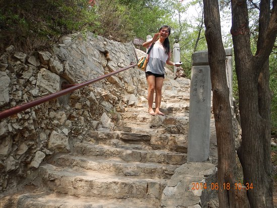 Jinan, China: the climb to the top can be tricky