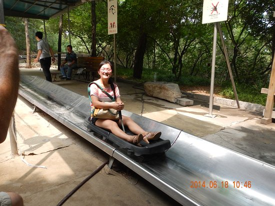 Jinan, China: the ride down is fun and exciting