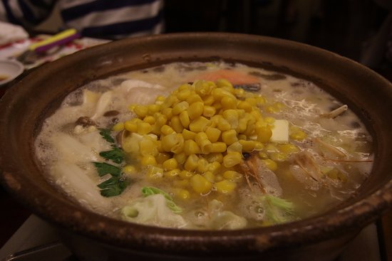 Хигасикава-те, Япония: 夏でも石狩鍋。