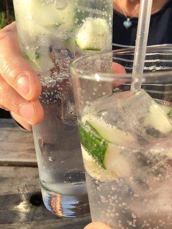 Balquhidder, UK: Hendricks G&T with cucumber. Perfect.