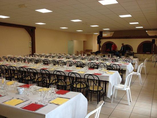 Grainville, Γαλλία: Salle configurée en L pouvant accueillir de 1 à 250 convives