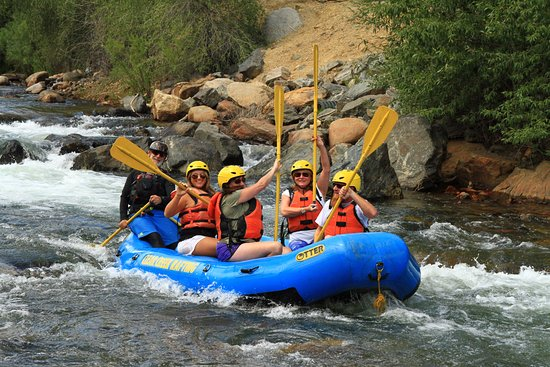 Clear Creek Rafting Company : High paddle fives..we made it!