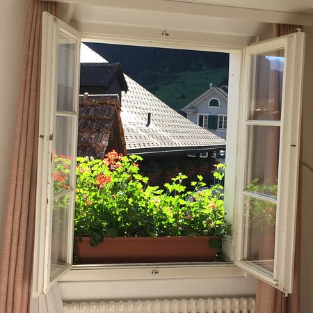 Wassen, Schweiz: View from triple room on the second floor