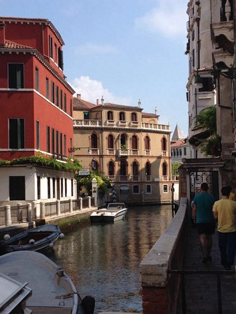 Palazzo Guardi: Canal view from entrance of building