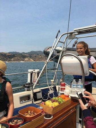 Avila Beach, CA: Lady at the helm!