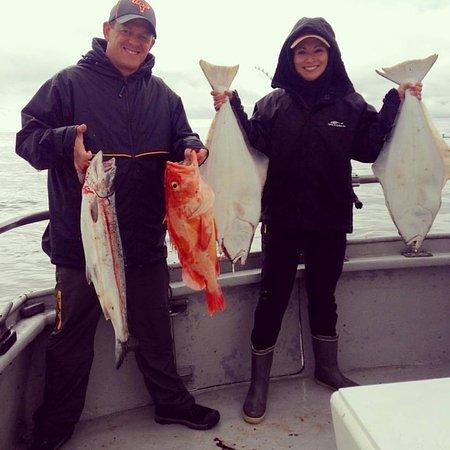 Ninilchik, AK: fish on!