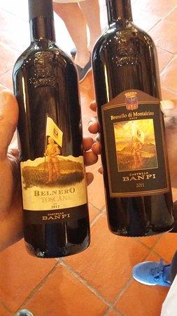 Montalcino, Italia: ovviamente in loco si posso comprare tutte le etichette Banfi