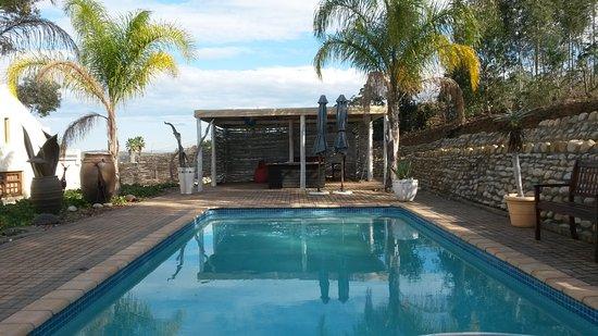 Swellendam, Sydafrika: Pool area
