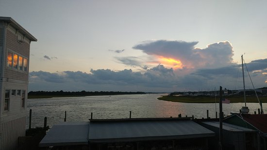 ICW at sunset in Southport NC