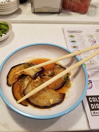 yo sushi bath a eggplant offering that was delicious 5