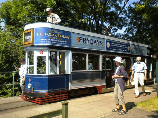 Seaton, UK: one of the trams