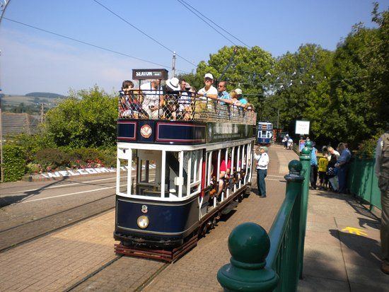 Seaton, UK: tram at one of the stations