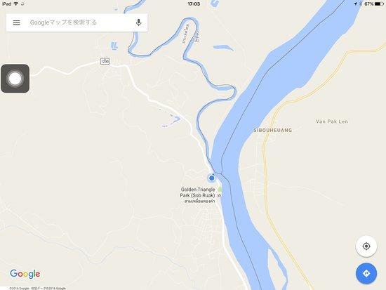 Chiang Saen, Thailand: トライアングルに到着