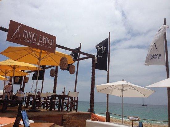 Nikki Beach: Vista da praia de Medano Beach