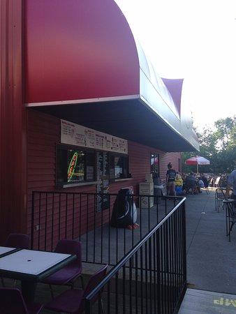 Sanford, ME: Ice cream ordering portion of restaurant