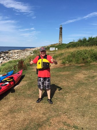 Twin Lights on Thatcher's Island: Come to Thacher Island, by kayak is best!