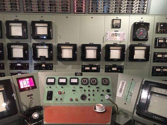 Thurso, UK: The terrifyingly low-tech main control panel from Dounreay
