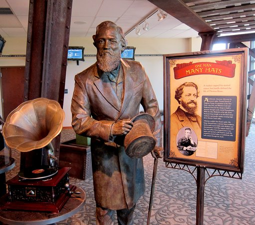 Bradford, Pensilvania: General Kane exhibit in the new Kinzua Bridge Visitors Center, Mt. Jewett, PA