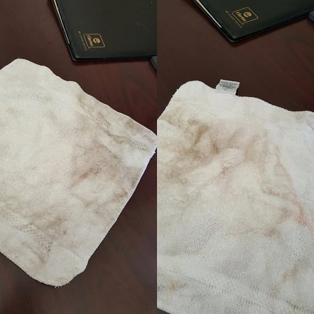 Clarksville, Индиана: This was front and back rag after cleaning desk and rolling chair