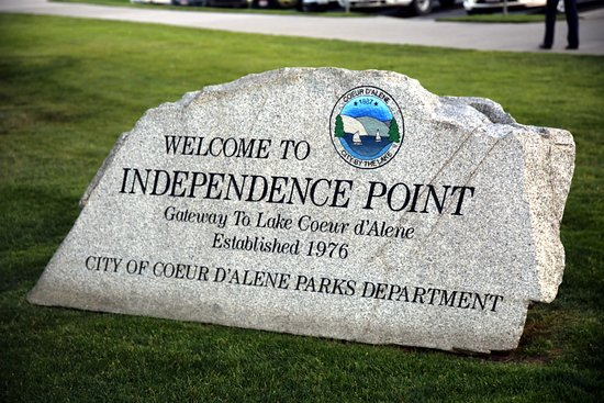 Coeur d'Alene City Park and Independence Point: Independence Point