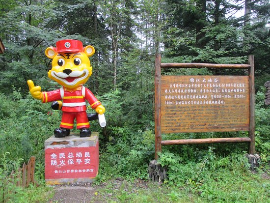 Baishan, China: La mascotte du parc national
