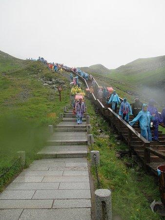 Baishan, China: La redescente dans le nuage