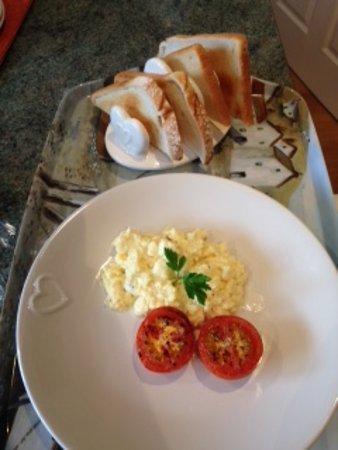 Selsey, UK: Scrambled eggs