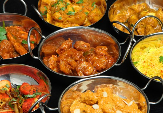 Braunton, UK: Curry dishes