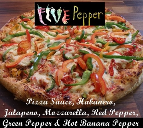 Famous Peppers Pizza : Five Pepper