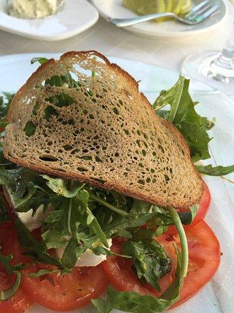 Hotel Edelweiss: Appetizers delicious combination of tomato, mozzarella and arugula