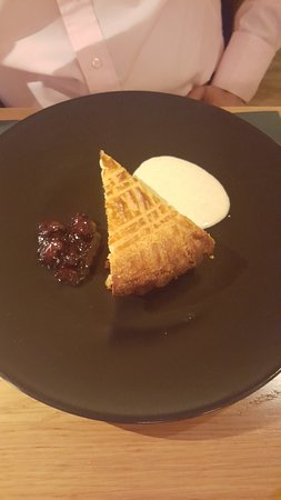 Bar Boulud: French tart with brandied cherries