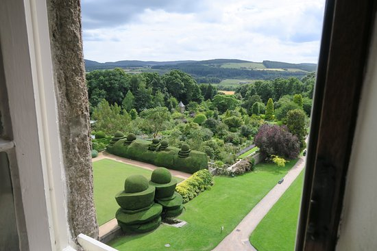 Banchory, UK: The garden, from the highest part of the castle - well the highest we were allowed into.