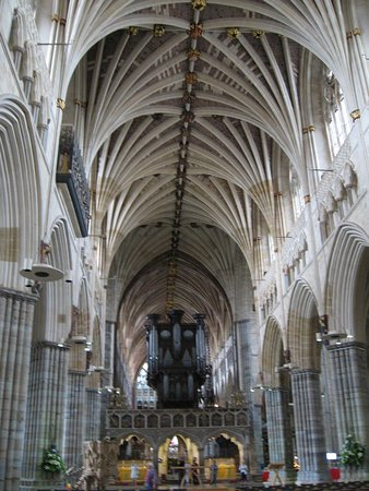 Exeter Cathedral: The nave and vault