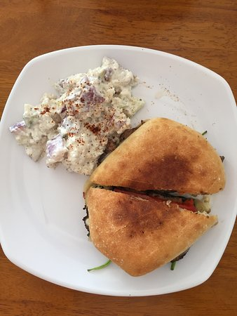Starke, FL: Steak Panini with home made Potato Salad
