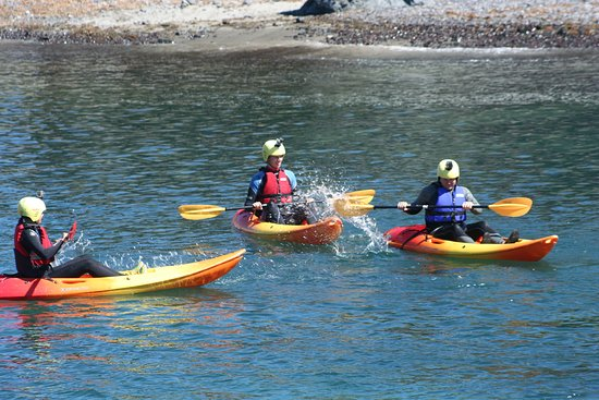sea kayaking at Mullion Cove with Lizard Adventures