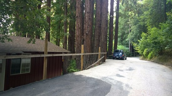 Ben Lomond, Californie : Parking outside of cabin; will need to make 3 point turn to get out. ;)