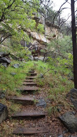 Garden Canyon: The Steps Up to View The Pictographs