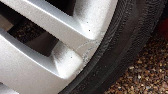Sunbury, UK: Car park damage to Alloy