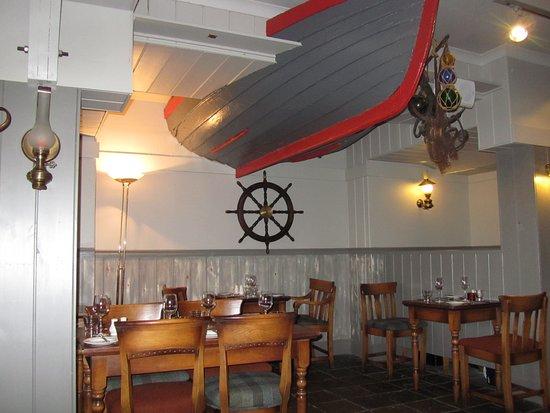 The Boatshed Restaurant: The restaurant interior