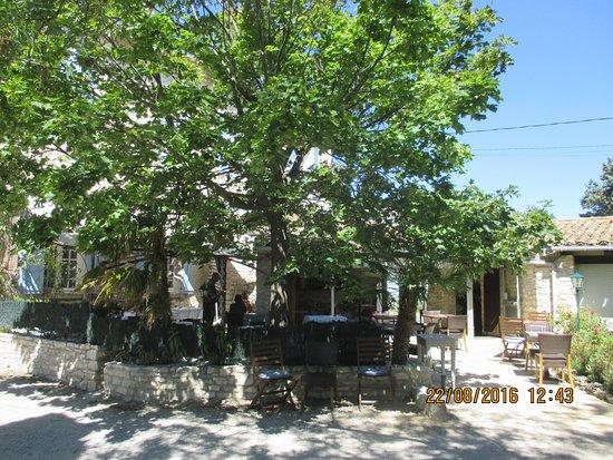 Tavel, Frankrig: la terrasse du restaurant