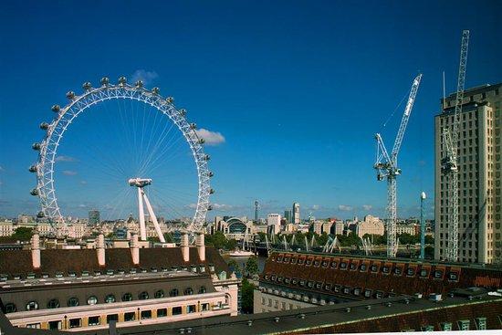Premier Inn London Waterloo (Westminster Bridge) Hotel: View from top floor corridor window, looking north.