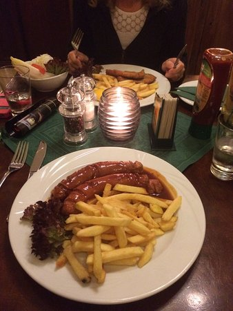 berliner currywurst picture of gasthaus krombach berlin tripadvisor