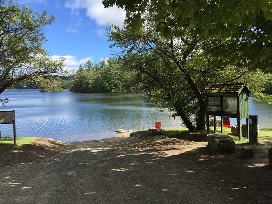 Enfield, NH: Launch area (Grafton Pond Reservation)