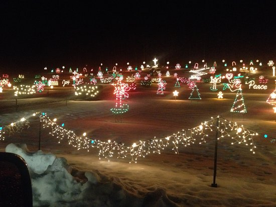 Enfield, NH: Christmas lights at La Salette