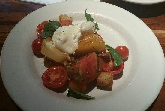 Bethesda, MD: Tomato salad with Basil Vinaigrette