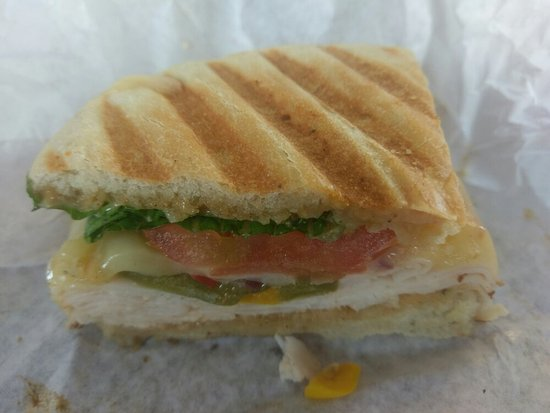 5dbeed6940 The best Turkey and Swiss on Sun dried Tomato and Basil bread! It ...