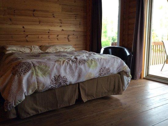 """Chambord, Kanada: Lit """"frais fait"""" pour notre arrivée"""