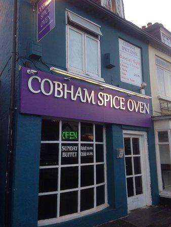 Cobham, UK: New sign