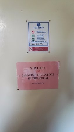 """Horley, UK: First time we've seen a """"No Eating polycy"""" sign"""