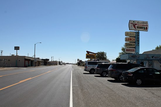 Marianna Inn : View of Main Street, Inyokern, CA